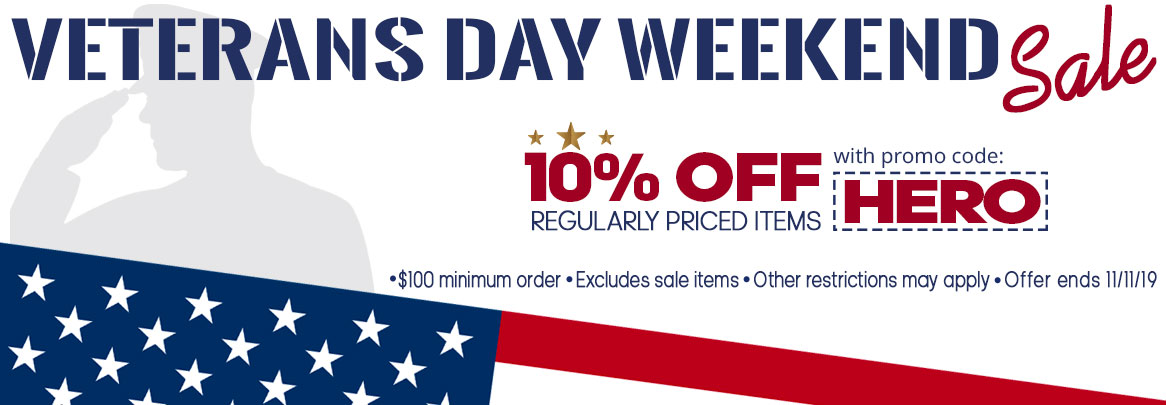 Veterans Day Weekend Sale. Save 10%.