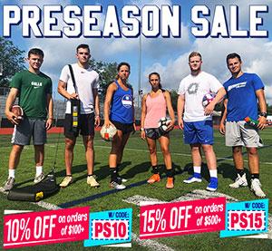 Preseason Equipment Sale, Save Big!