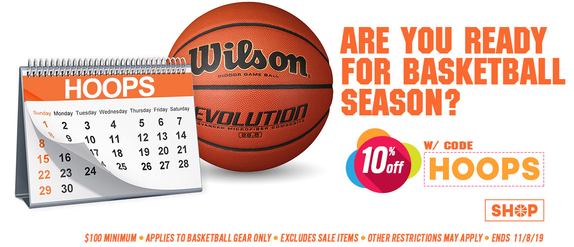 Basketball Equipment Sale. Save 10%.