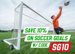 Save 10% on Soccer Goals