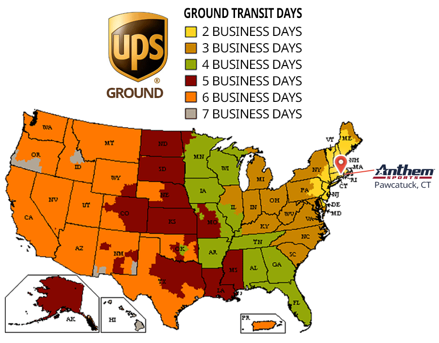 UPS Ground Shipping Lead Times