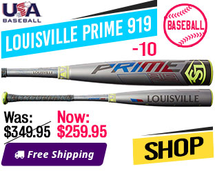 2019 Louisville Prime 919 -10 USA Baseball Bat, WTLUBP919B10