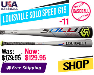2019 Louisville Solo Speed 619 -11 USA Baseball Bat, WTLUBS619B11