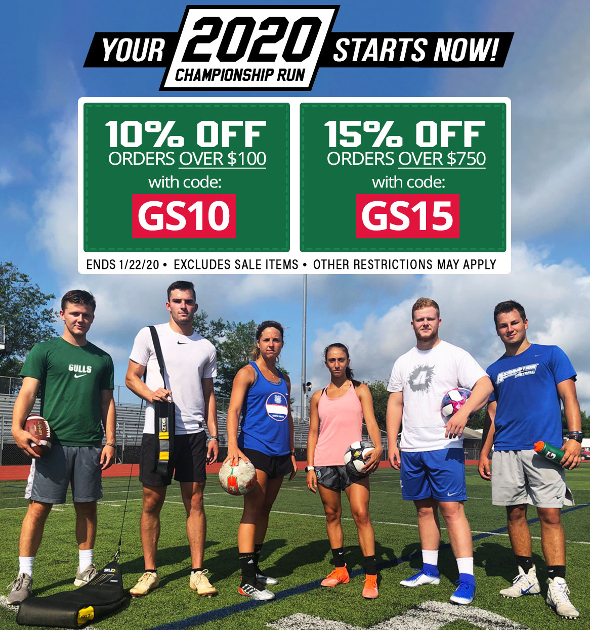 Your championship run starts now! Gear up for spring sports and save!