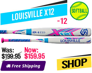 2019 Louisville X12 -12 Fastpitch Softball Bat, WTLFPX219A12