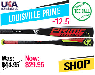 2019 Louisville Prime (-12.5) USA Tee Ball Bat, WTLUBP918T125
