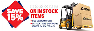 SAVE 15% on In Stock Items