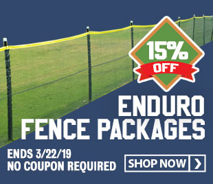 Save 15% on Enduro Temporary Baseball/Softball Outfield Fencing.