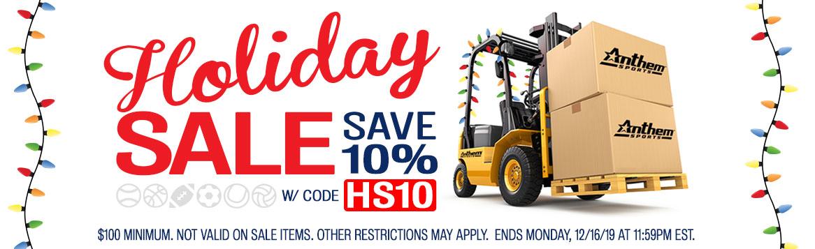 Holiday Sale. Save 10%.