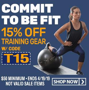 Save 15% on Training Gear