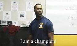Leland High School JV Football Coach Flowers - I Am A Champion Speech