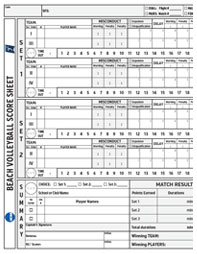 NCAA Beach Volleyball Score Sheet