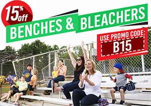 Save 15% on Benches & Bleachers