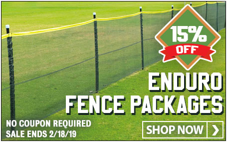 Save 15% on Enduro Temporary Baseball/Softball Outfield Fencing. No coupon required. Ends 2/18/19.