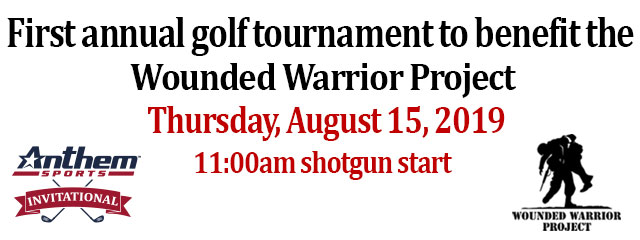 Anthem Sports golf tournament to benefit the Wounded Warrior Project