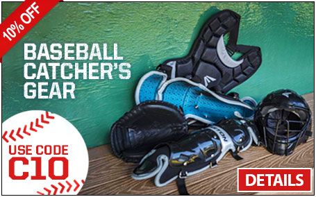 Save 10% on Baseball Catcher's Gear