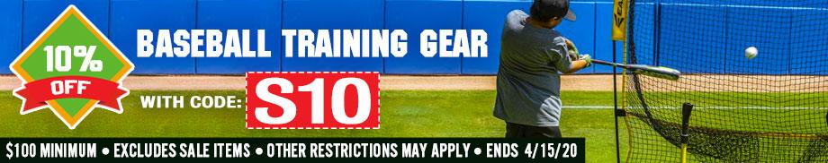 10% off Baseball Training