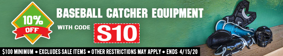 Baseball Catcher's Gear Sale - Save 10%