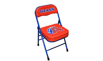 Fisher Next Level Folding Sideline Basketball Chair, w/ 2-Color Artwork