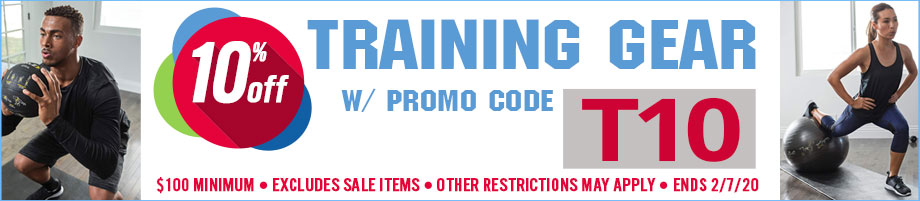 Save 10% on Training Gear orders of $100+ w/ promo code T10