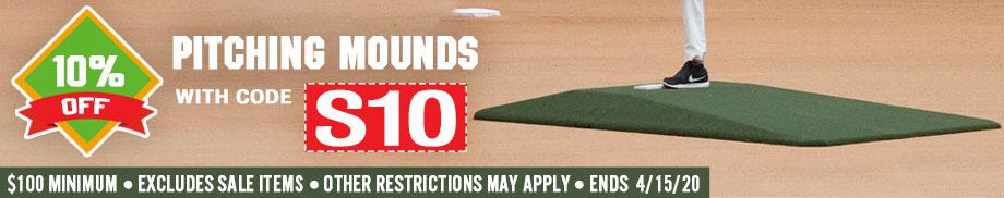 10% off Baseball Mounds