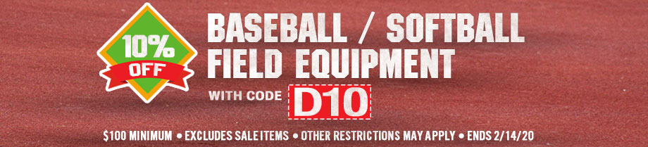 Save 10% on Baseball & Softball Field Equipment orders of $100 or more