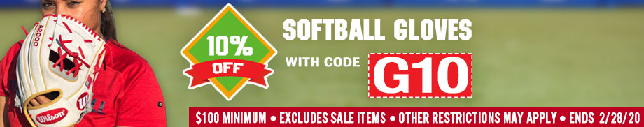 Save 10% on Softball Gloves