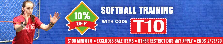 Save 10% on Softball Training Gear