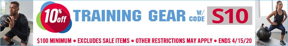 Save 10% on Training Gear