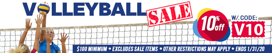 Volleyball Sale - Save 10% w/ code V10