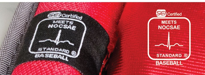 NOCSAE Baseball Chest Protector Standard label