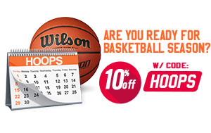 Save 10% on Basketball gear
