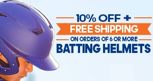 Save 10% + get Free Shipping on orders of 6 or more Batting Helmets
