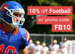 Save 10% on Football gear
