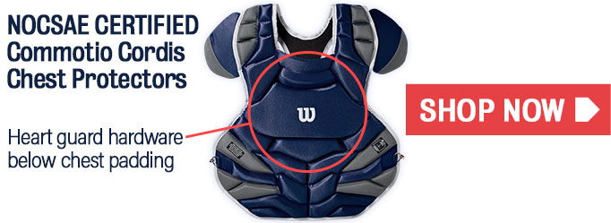 Click here to shop Commotio Cordis Approved Catcher's Gear