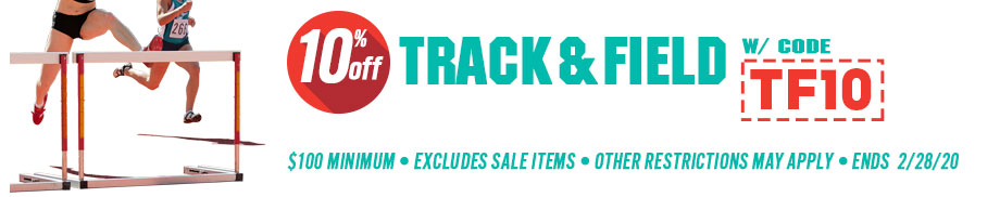 Save 10% on Track & Field Gear