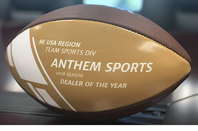 Anthem Sports wins the Wilson Sporting Goods 2018 Dealer Of The Year for the Northeast USA region
