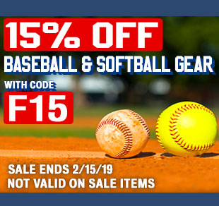 15% Off Baseball & Softball Gear w/ promo code F15 (Not valid on sale items. Ends 2/15/19 at 11:59pm EST)